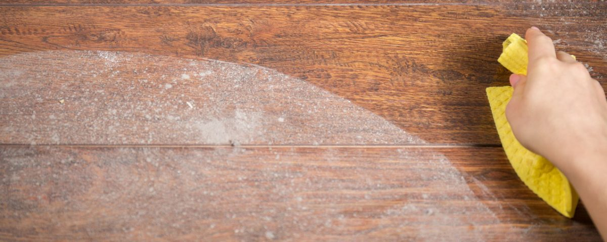 how to clean dusty hardwood floors