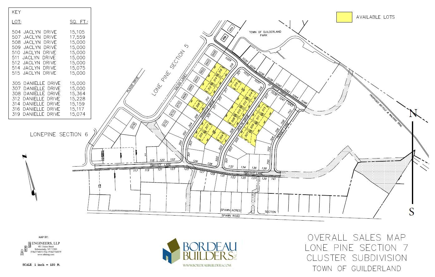 Lone Pine Estates Lot Map