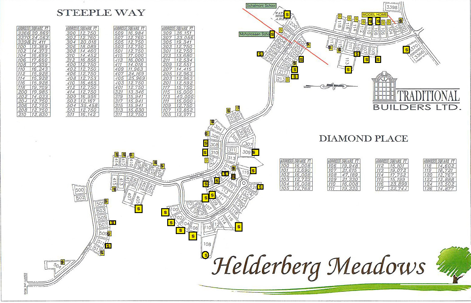 Helderberg Meadows Lot Map