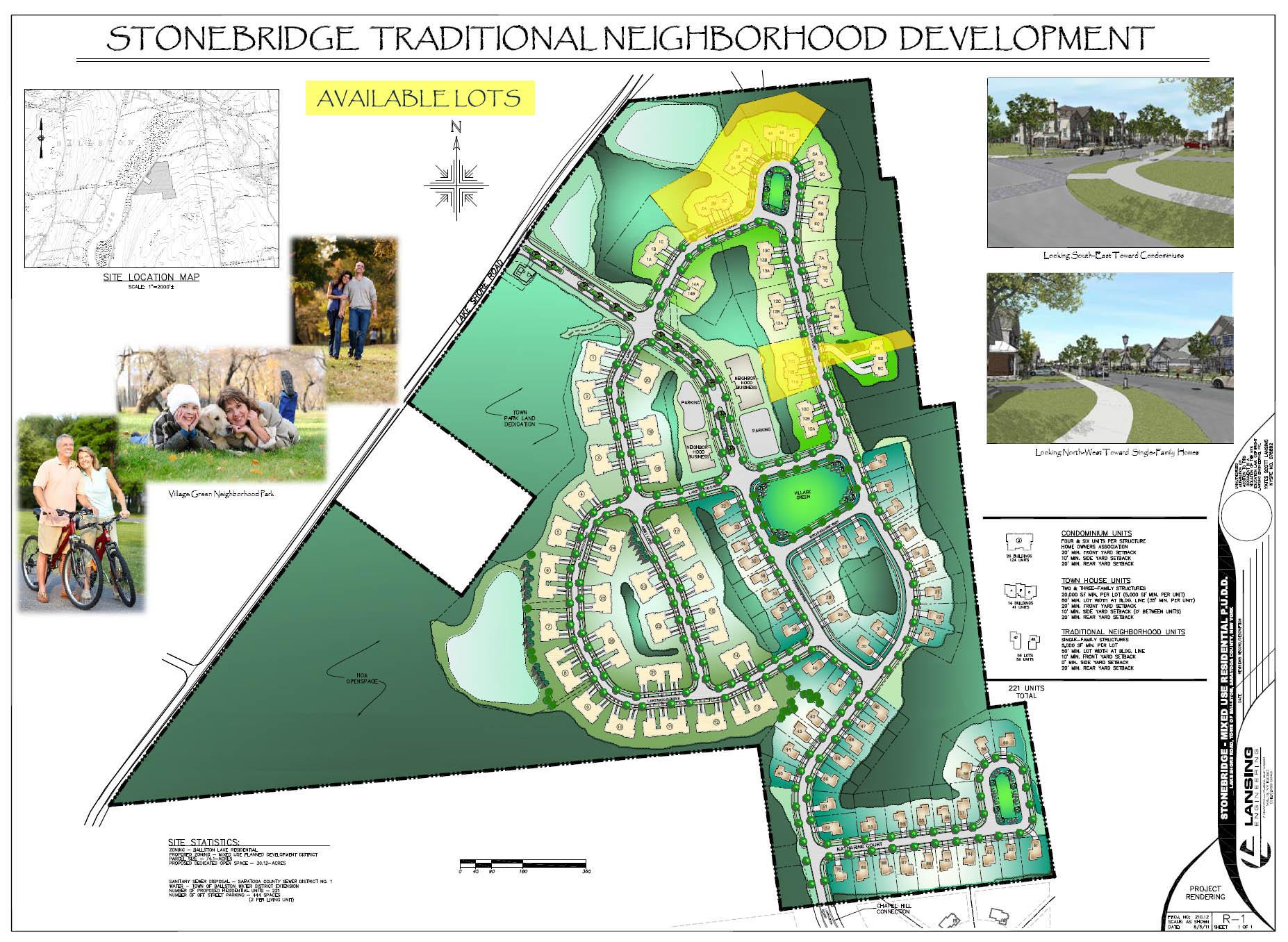 Stonebridge Available Lots Map